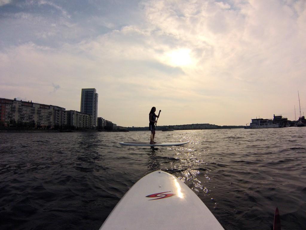 Stand up paddling på Karlbergskanalen