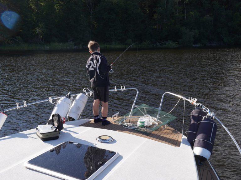 Vår egen fiskebåt.