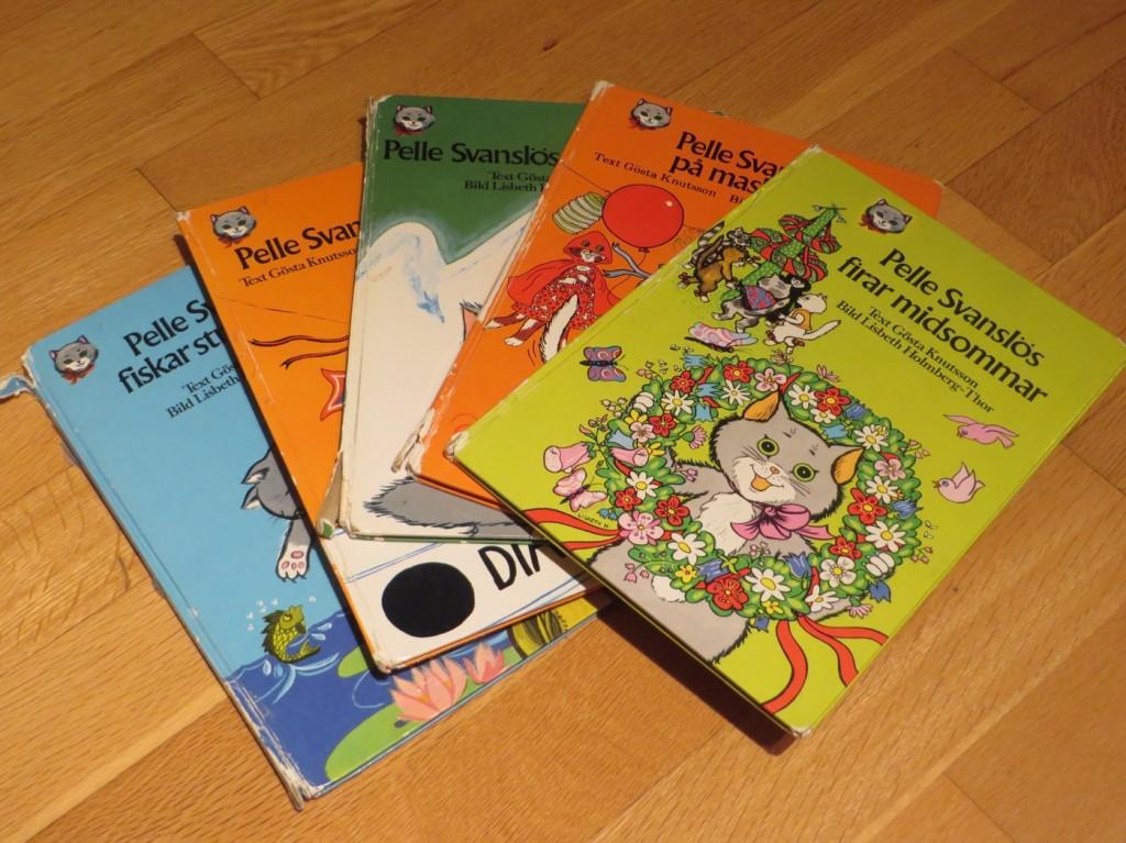 Några av de gamla klassiska Pelle-böckerna