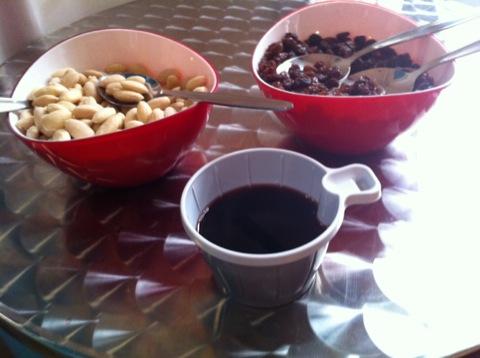 Glögg, mandlar och russin