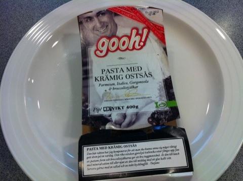 Mat från Gooh värms i mikron