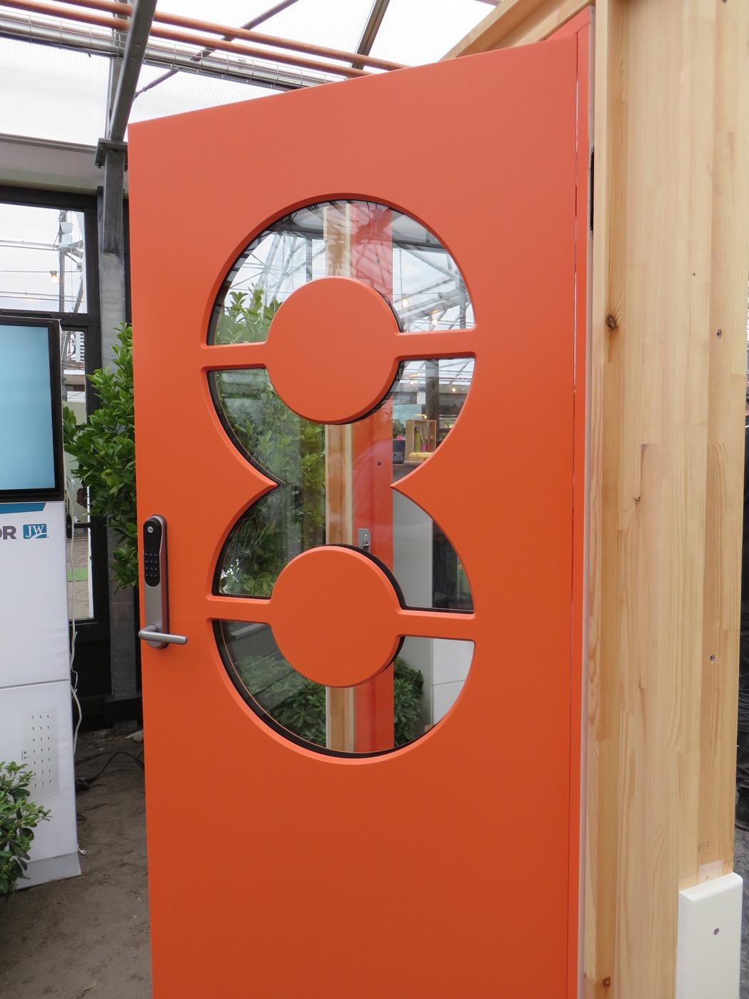 Få husnumret på ytterdörren som fönster