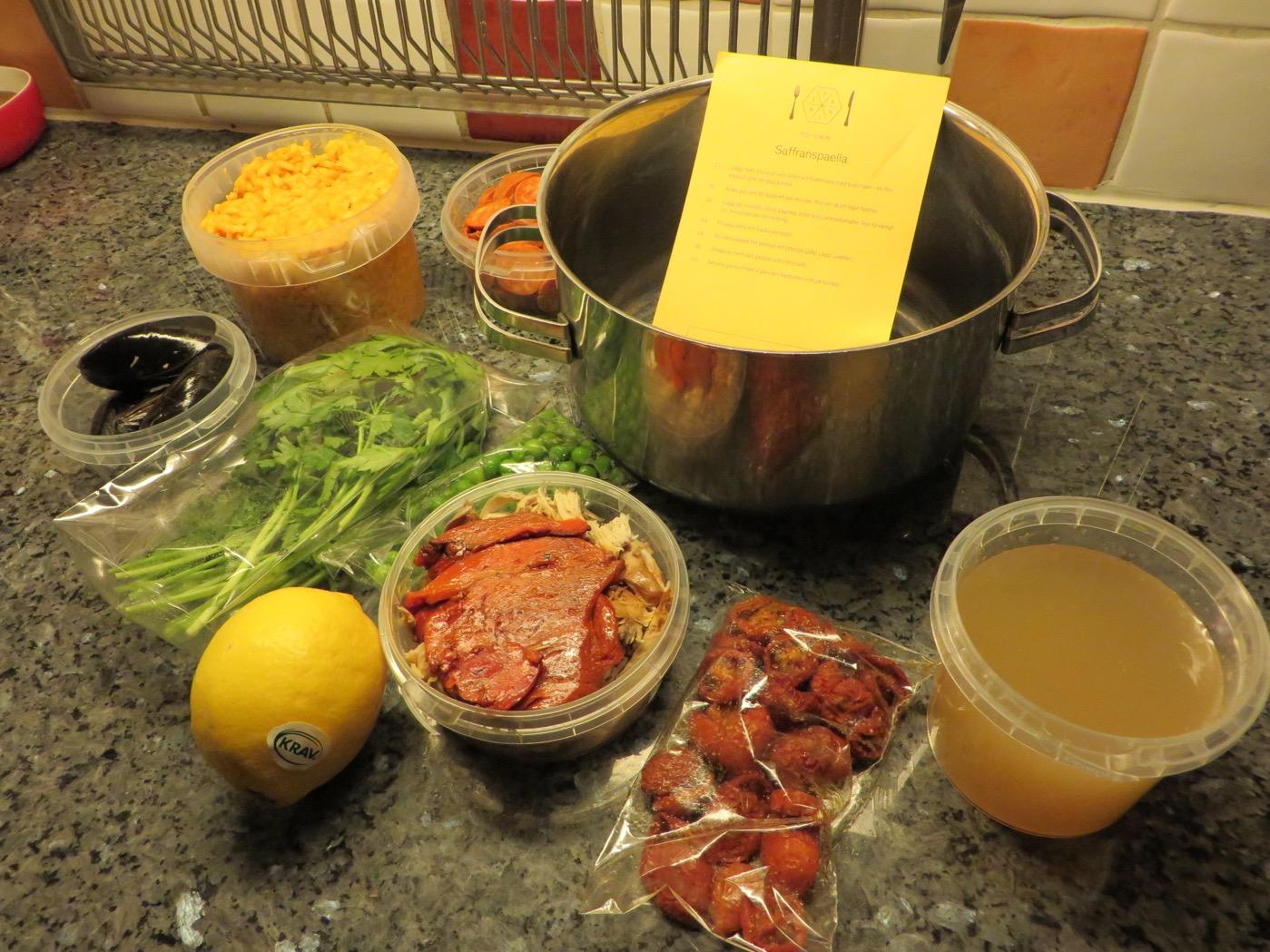 Middagslåda från Panini - Saffranspaella