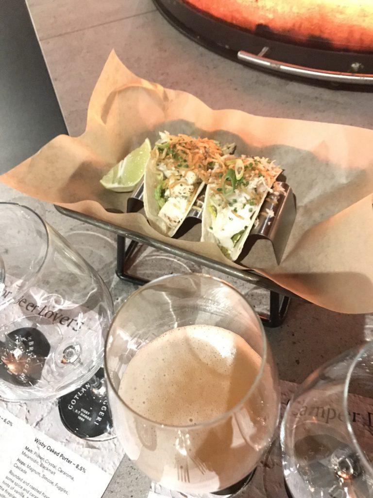 Taco med hälleflundra