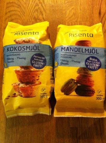 Mandel- och kokosmjöl från Risenta
