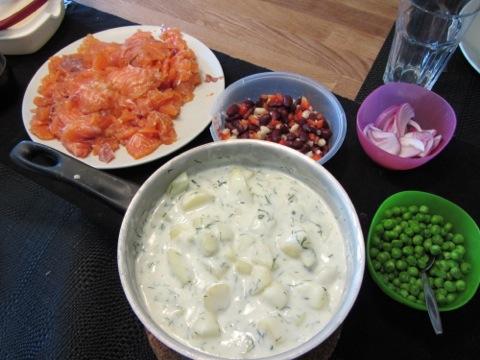 Gravad lax och dillstuvad potatis