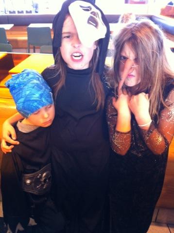 Tre läskiga monster