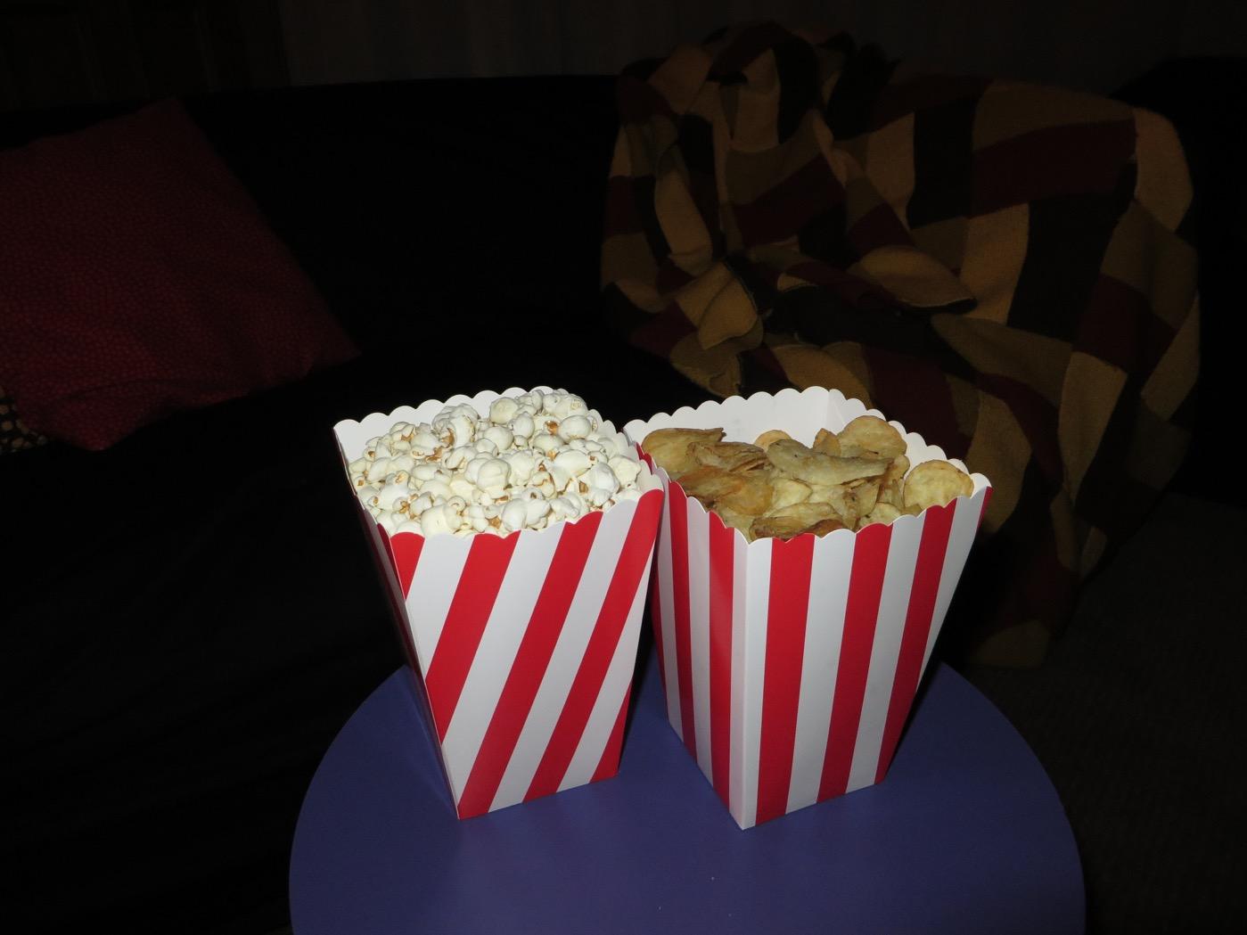 Popcorn och chips