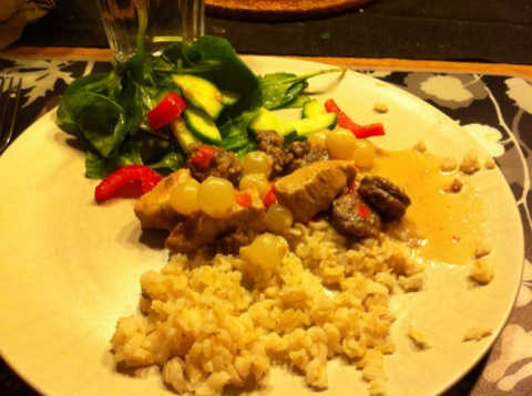 Kreolsk gryta med ris och grönsaker