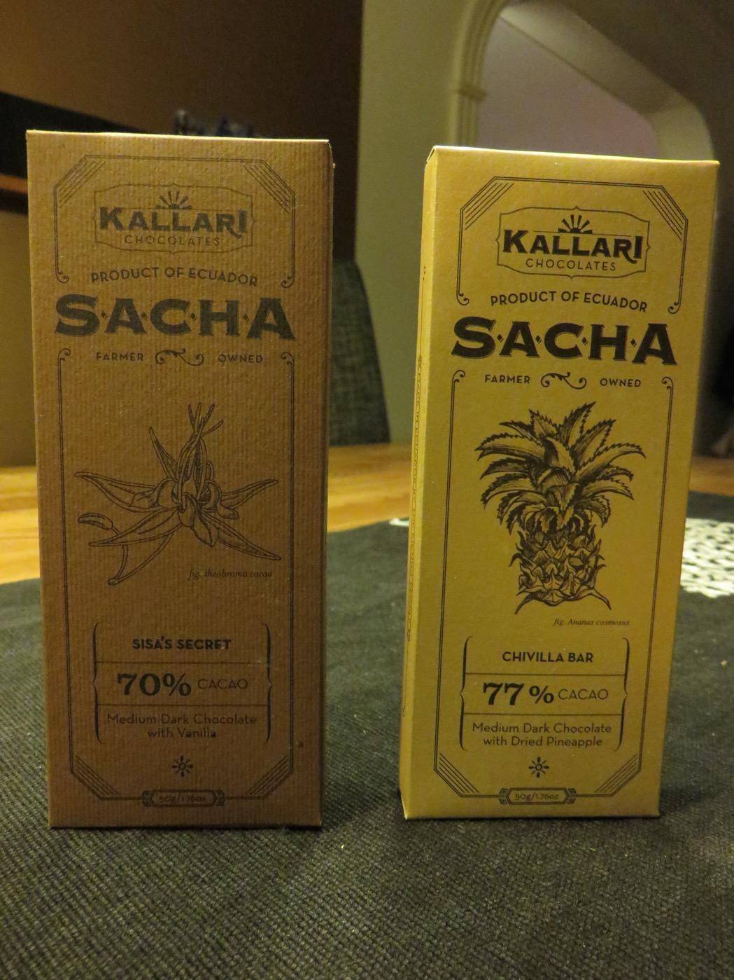 Choklad med olika smak från Kalari