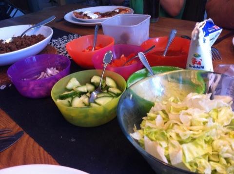 Tacos till söndagslunch