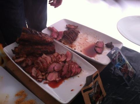 Det fanns mängder med gott kött att äta