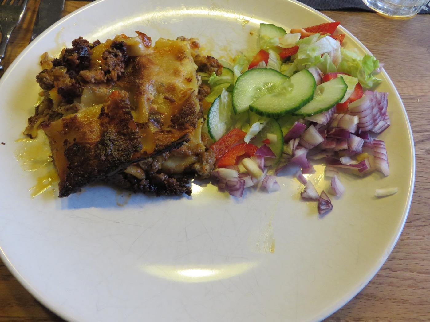 Krämig och god lasagne! Åt två stora bitar - gott!