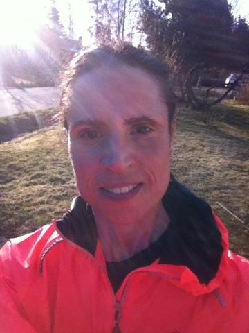 Glad efter en avslutad joggingtur