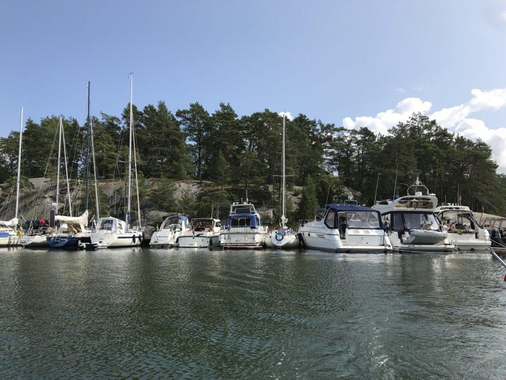 Här ligger båtarna på rad!