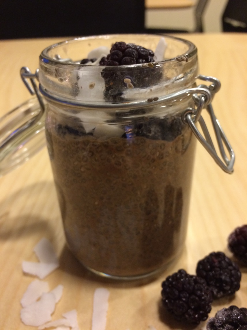 Chiapudding med carob-pulver
