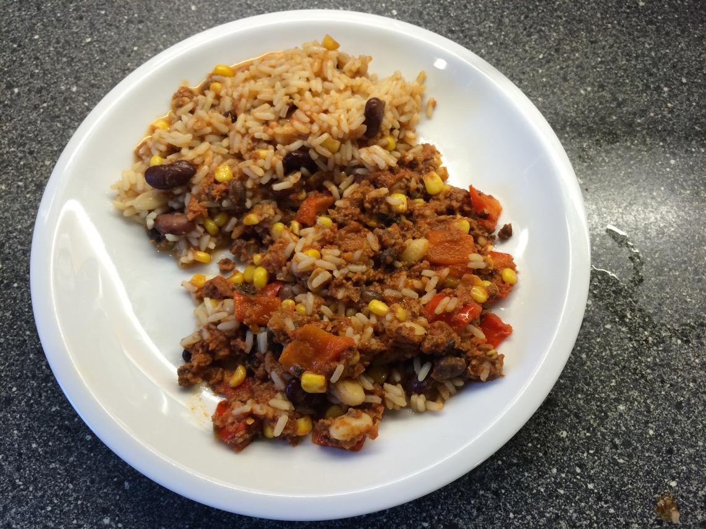 Chili con carne med ris