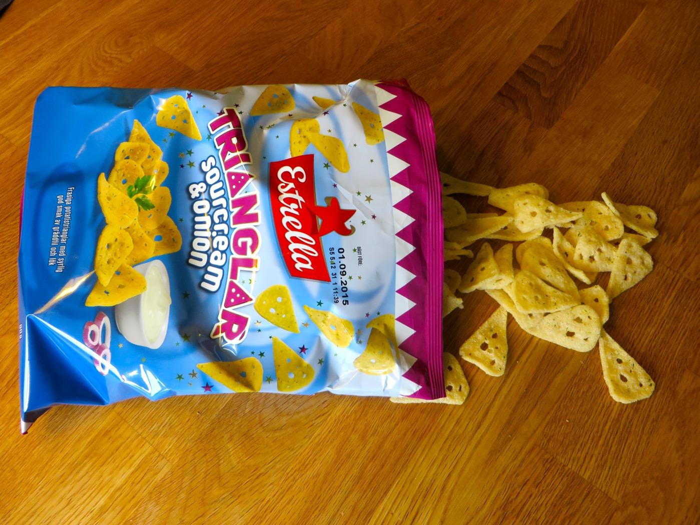 Senaste nyheten inom Estrellas impulsserie - Trianglar Sourcream & onion.