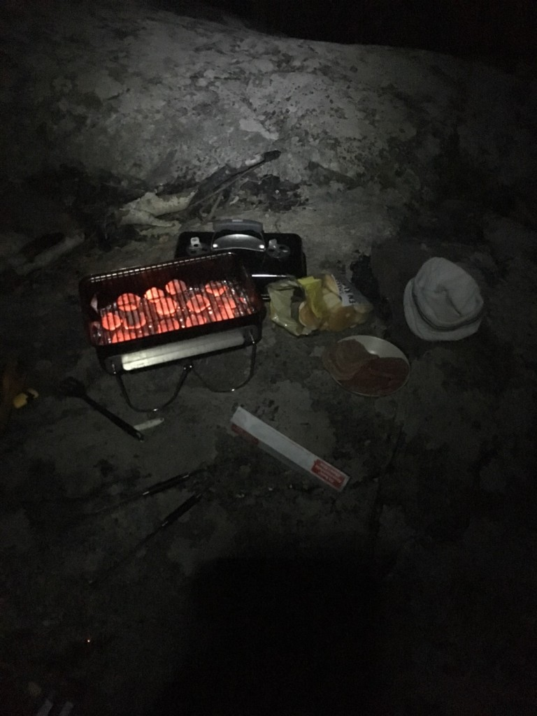 Grillning i mörkret!