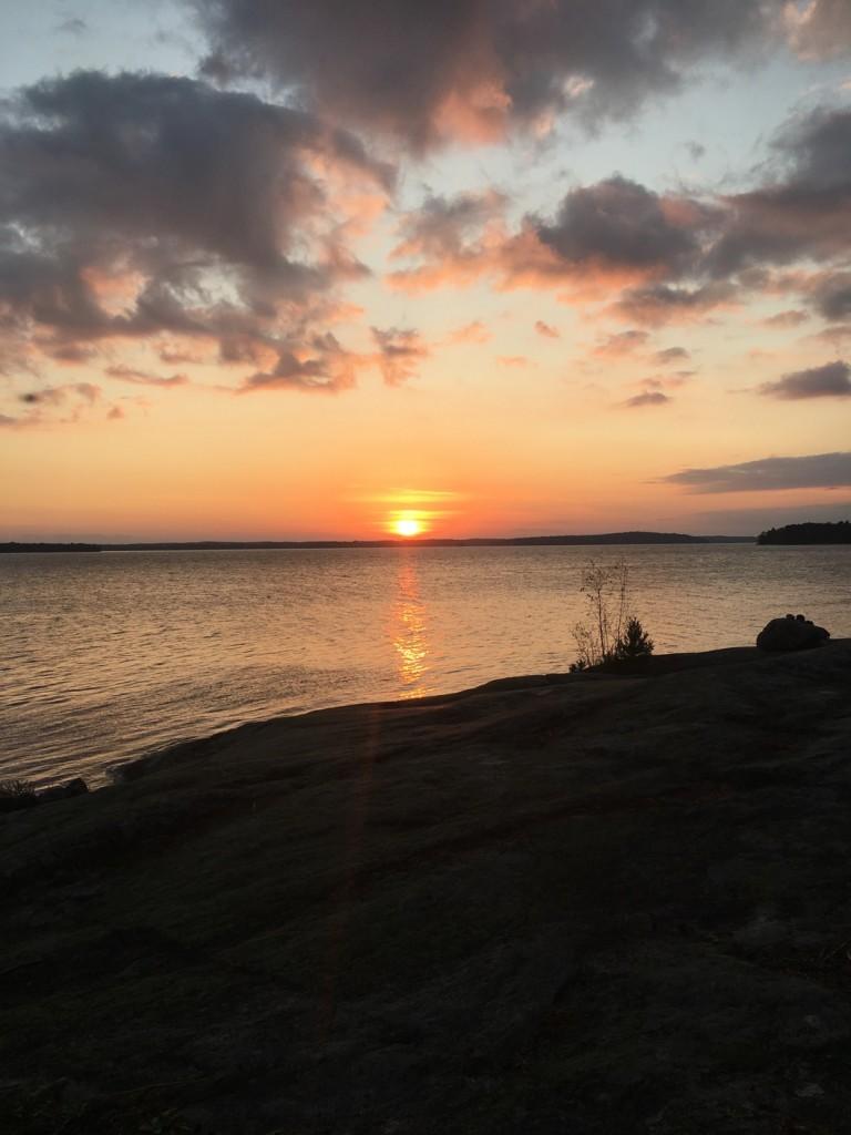 Solnedgång i Granskär.