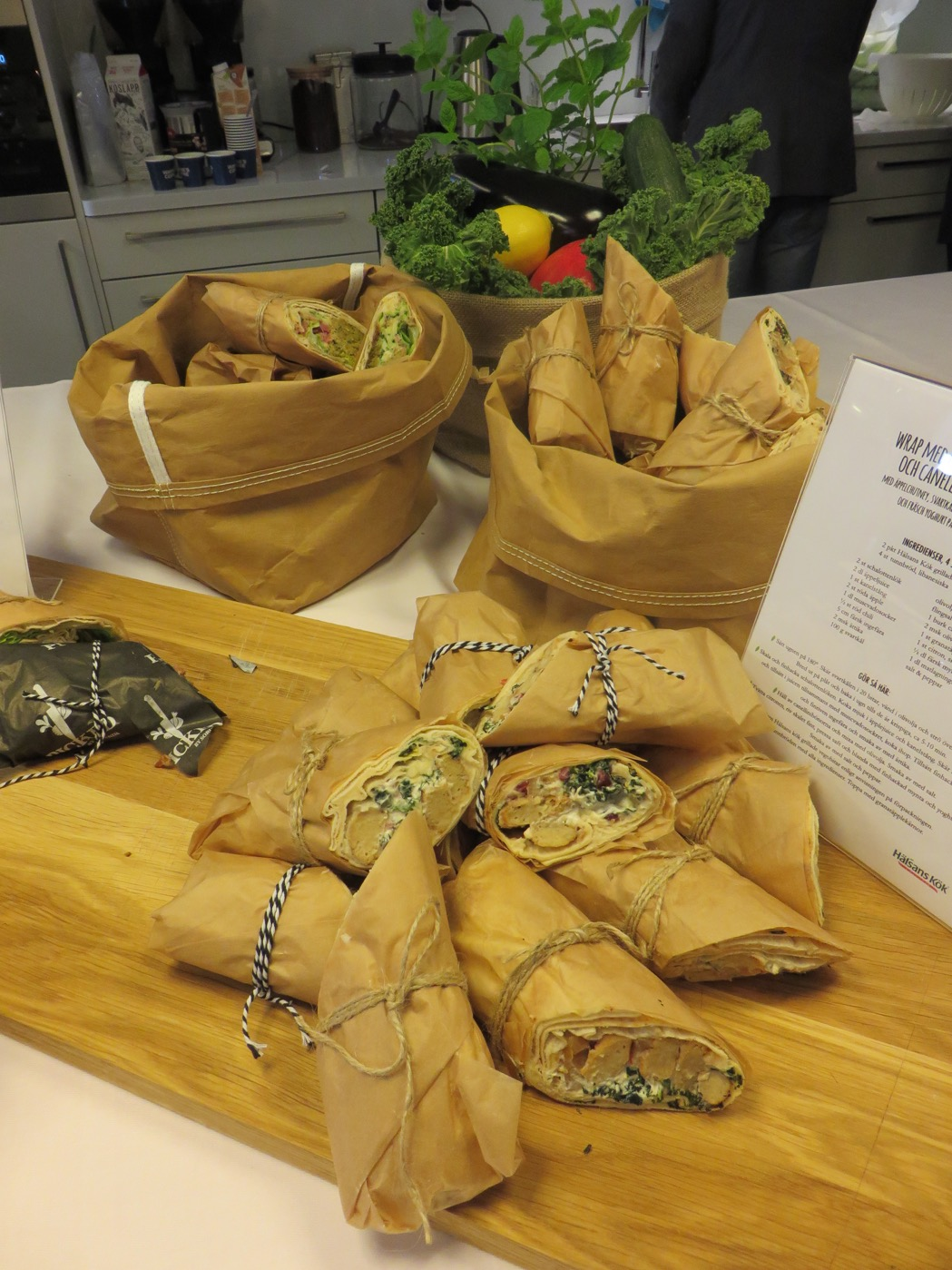 Underbara vegetariska lunchwraps från Hälsans Kök.
