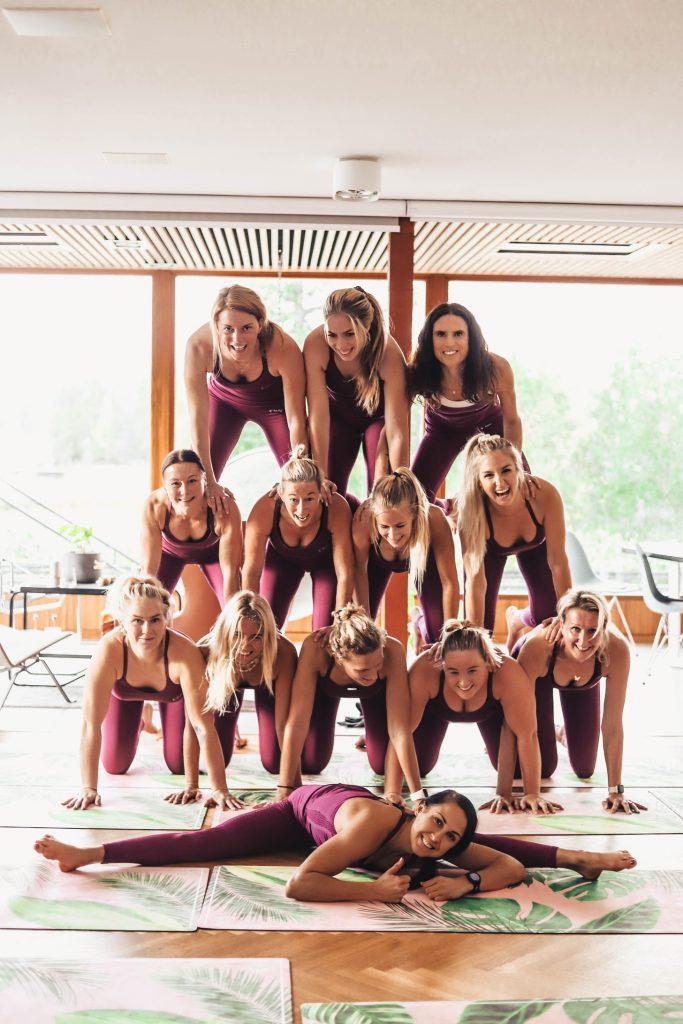 En riktigt snygg pyramid fick vi ihop!