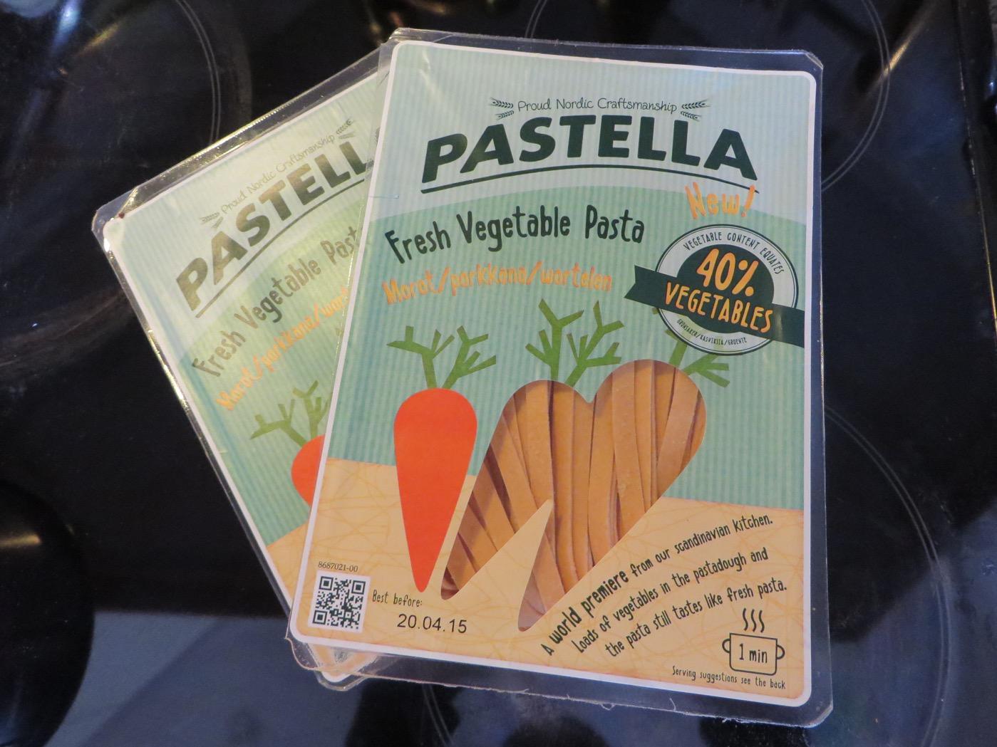 Färsk grönsakspasta.