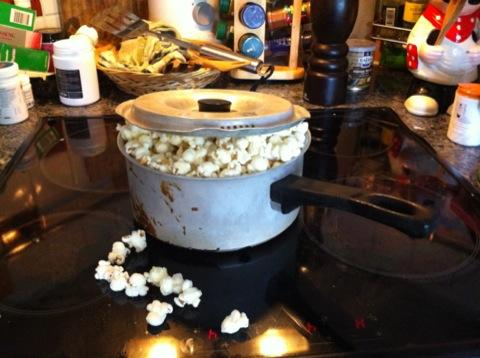 Nypoppade popcorn