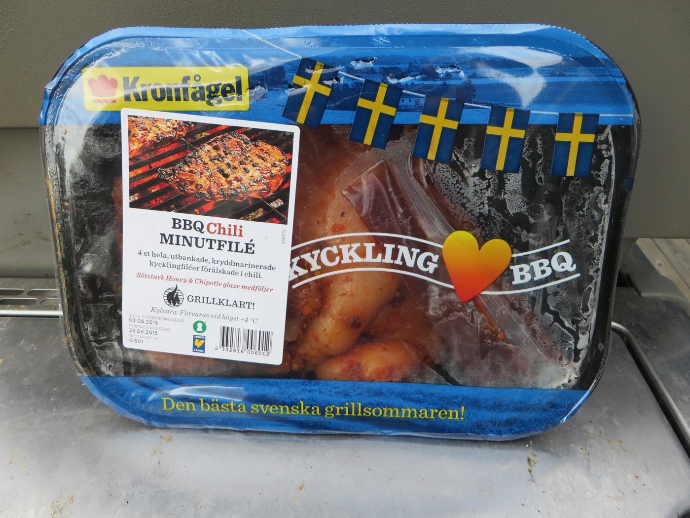 BBQ Chili Minutfilé från Kronfågel.