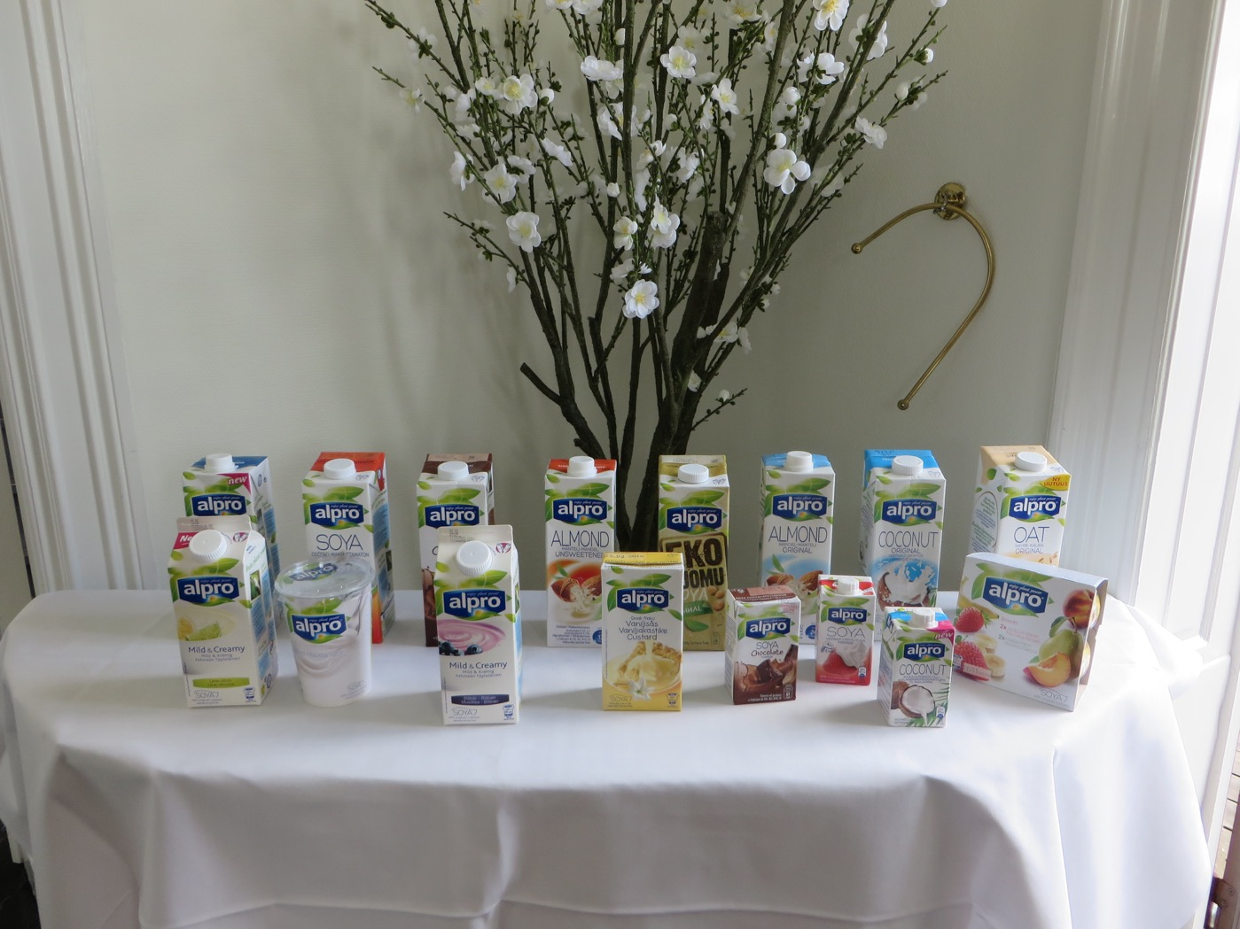 Alpros hälsosamma växtbaserade produkter.