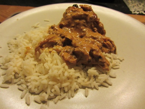 Kyckling i god sås med ris