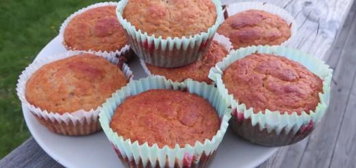 Nyttiga bananmuffins - perfekt till frukost, mellis eller varför inte efterrätt!