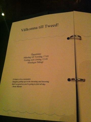 Välkommen till Tweed