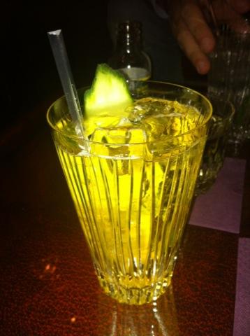 En av kvällens goda drinkar