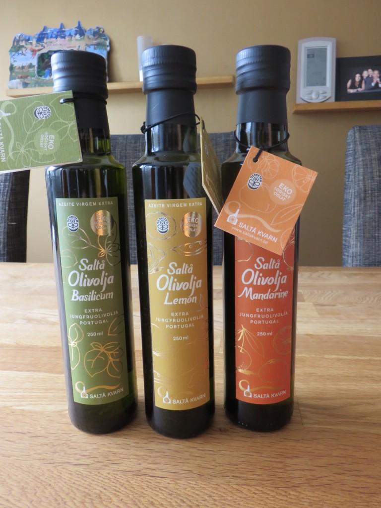 Tre smaksatta olivoljor