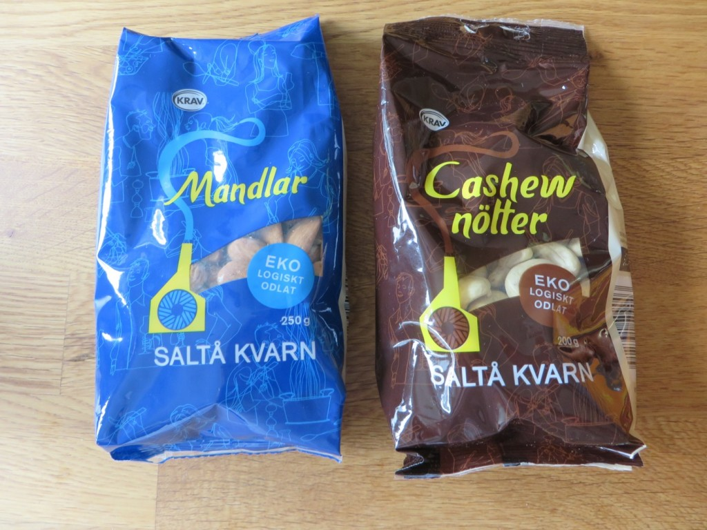 Mandlar och cashewnötter