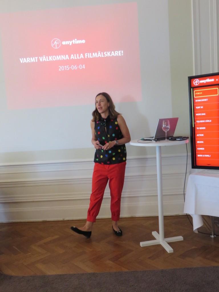 Marknadschef Marta presenterar några av resultaten från SF Anytimes årliga filmundersökning.