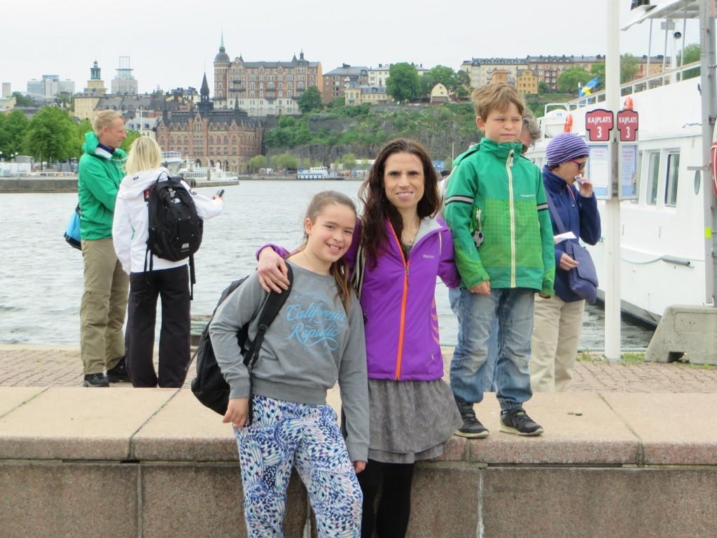Familjeutflykt till vikingastaden Birka.