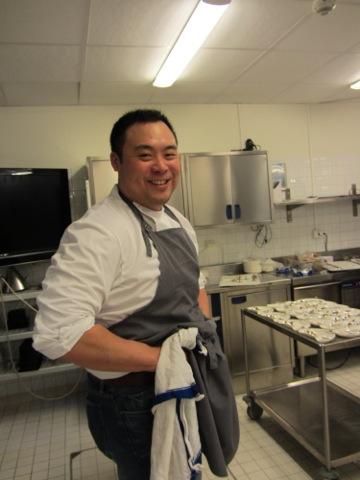 David Chang in action i köket