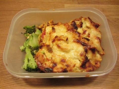 Måndagens goda lasagne - glömde ta kort på tallriken så här är hur den ser ut i morgondagens lunchlåda!