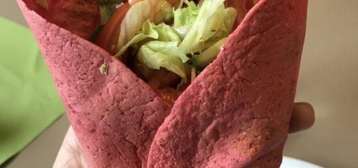 Tortillabröd som innehåller rödbetor.