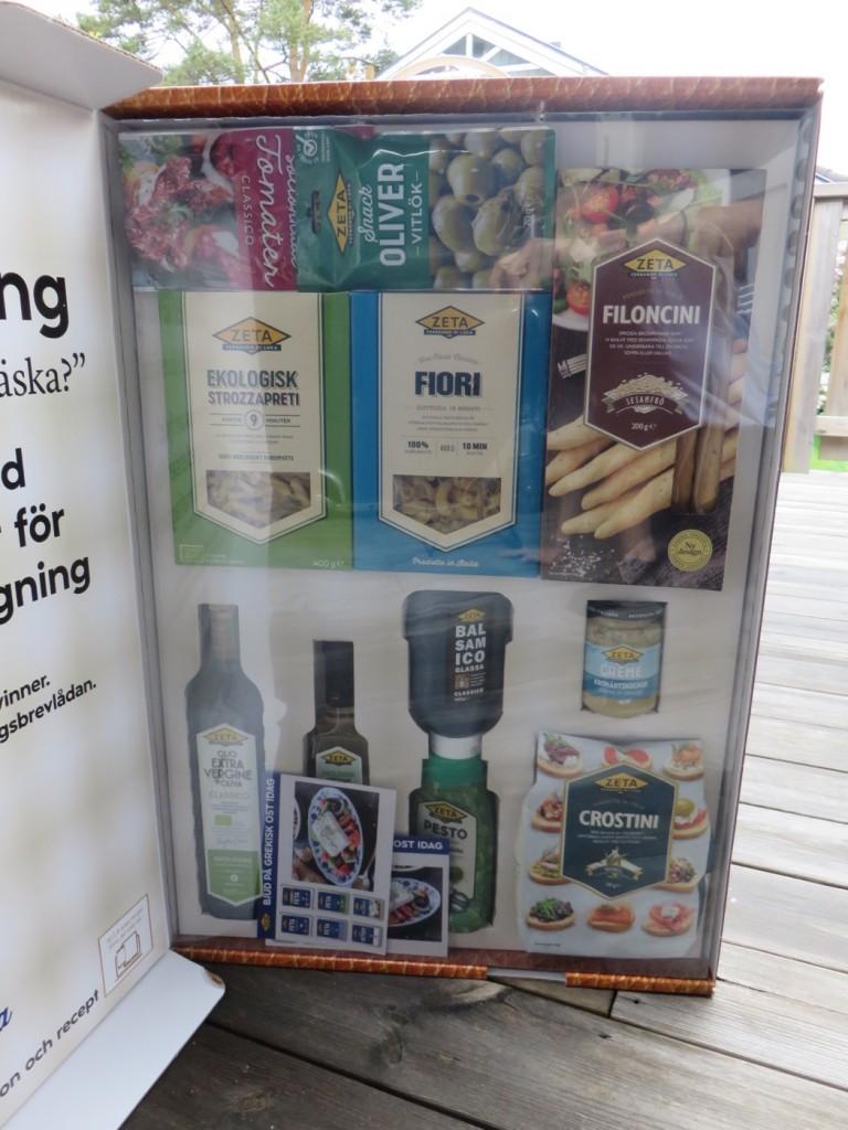 Ingredienser för fräsch italiensk antipasti