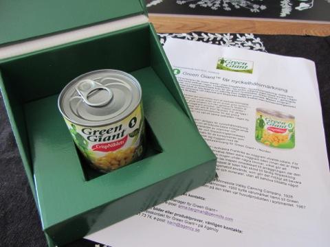 Nyckelhålsmärkt majs från Green Giant