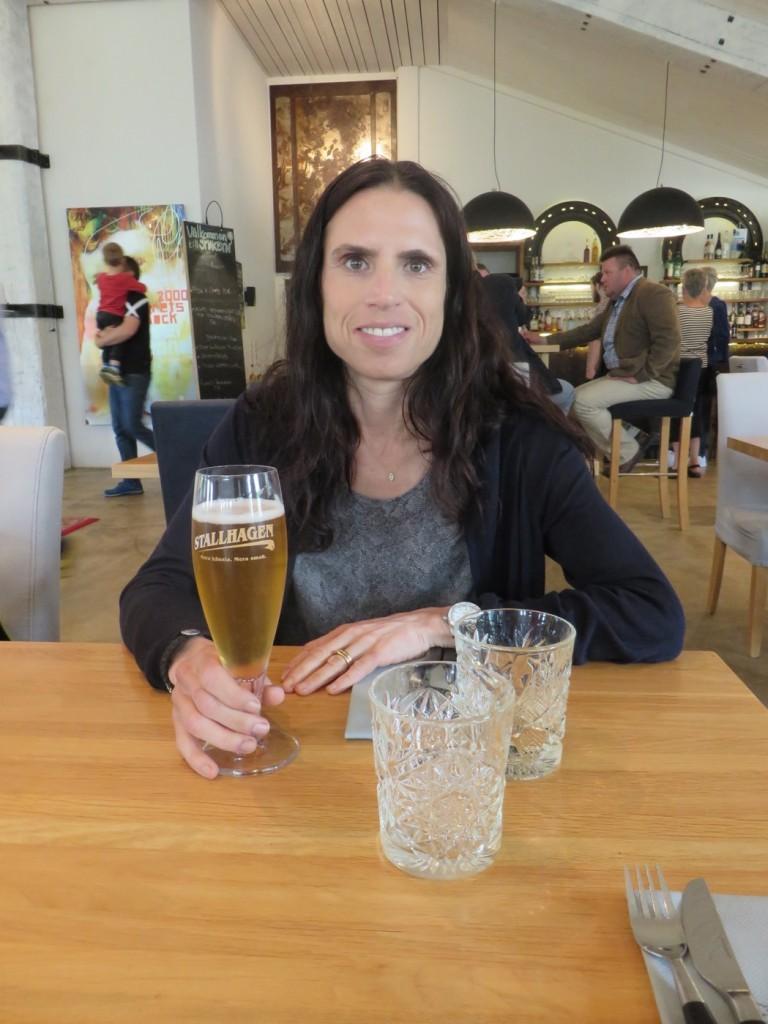Givetvis en öl från Stallhagen till måltidsdryck.
