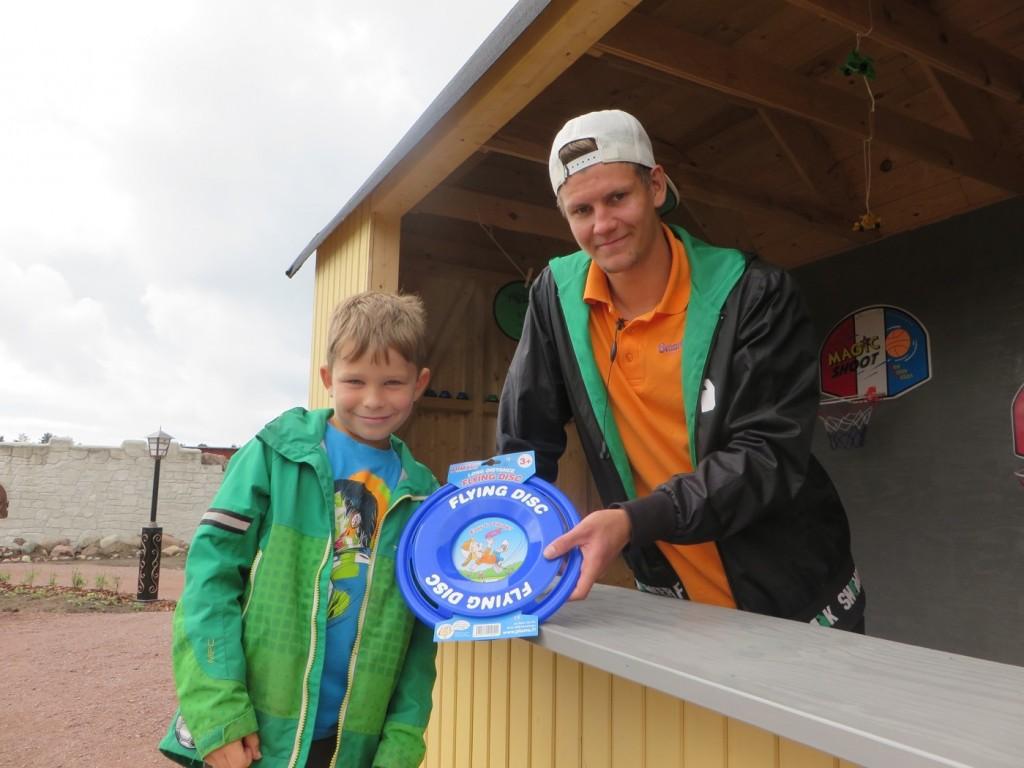 Gustaf tar hem förstapriset!