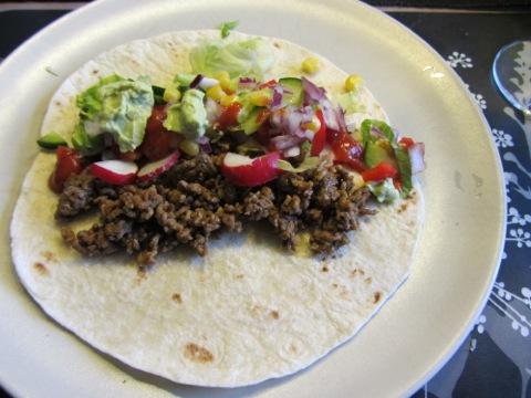 Taco i mjukt bröd