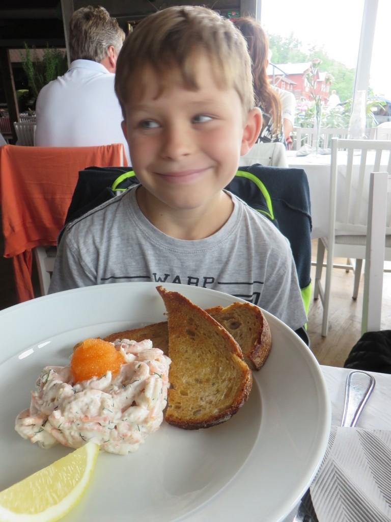 Toast Skagen med Kalixlöjrom.