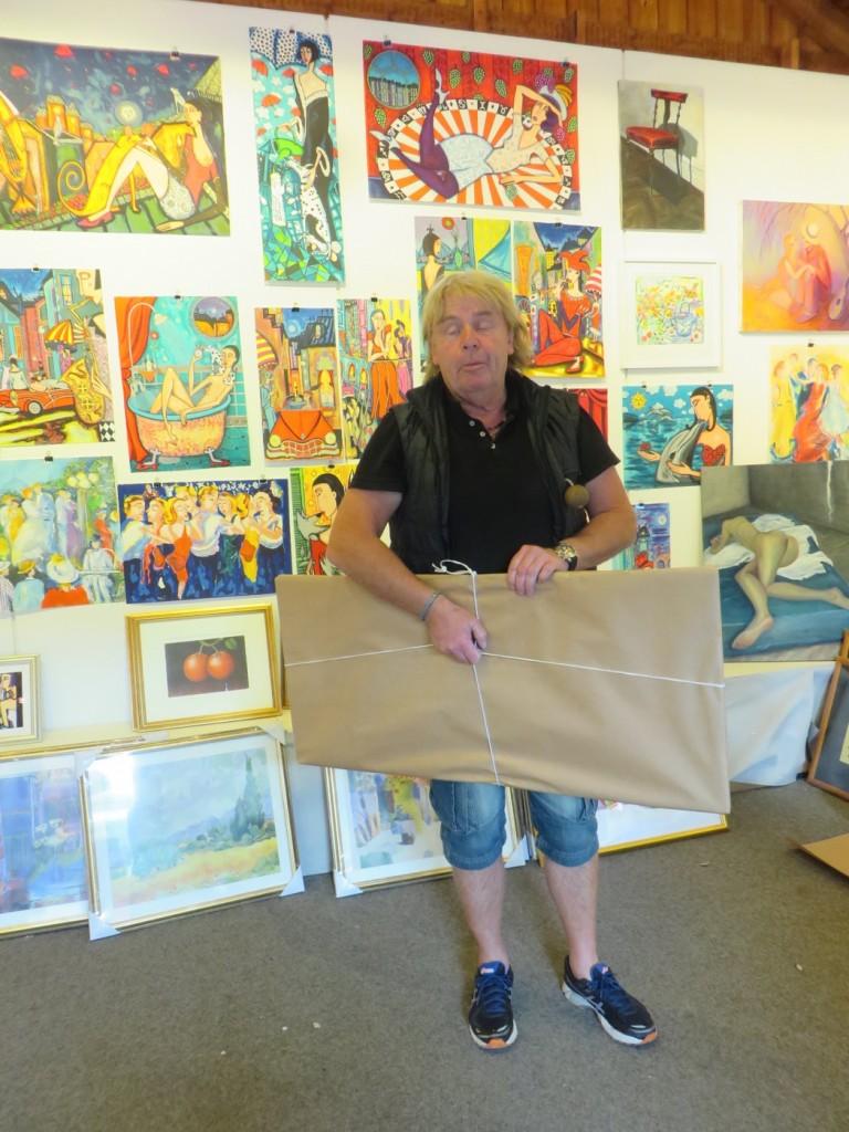 Jag shoppade en Angelica Wiik-tavla i konstgalleriet.