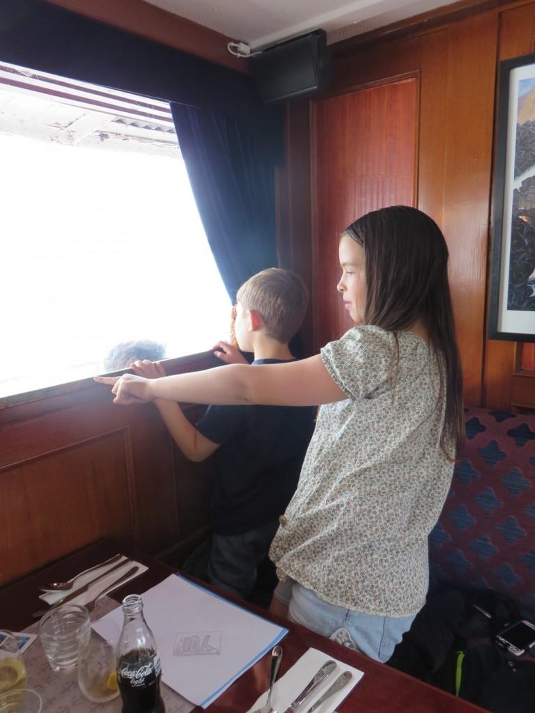 Mycket vackert passerar utanför fönstret medan guiden berättar vad vi ser.