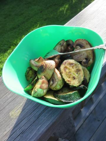 Underbara grillade grönsaker!
